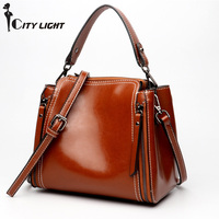 Double Zipper Small Women Handbags Vintage Shoulder Bags Ladies Crossbody Bags Fashion Genuine Leather Famous Brands