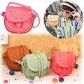 Korea Women's Girls Handmade Musette Leather Bag Drum Pattern Small Shoulder Bag Messenger Handbag Z 25