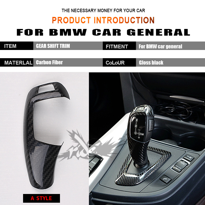 F01 F02 Car Interior For BMW G11 G12 733i 735i 740i 745 Right hand drive Carbon Fiber car genneral Gear Shift Knob Cover A Style in Gear Shift Knob from Automobiles Motorcycles