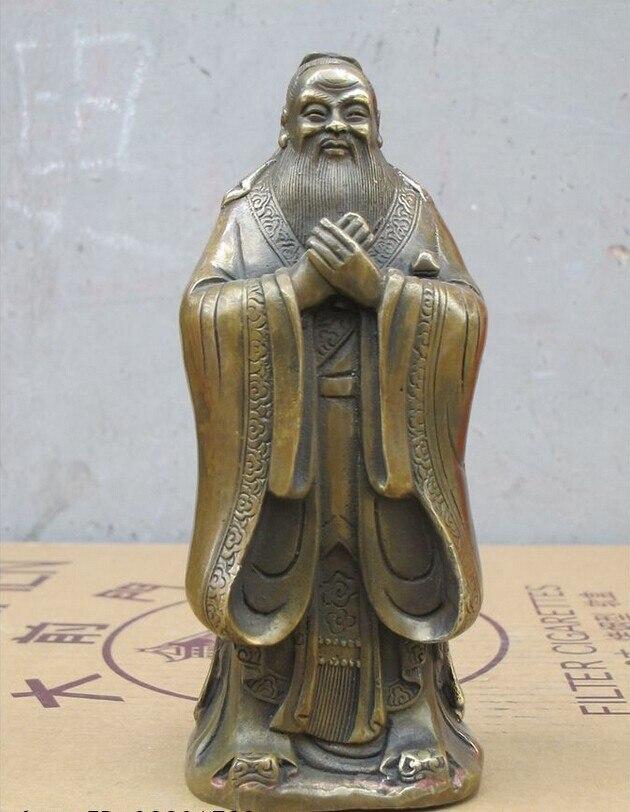 decoration bronze factory Pure Brass Antique Old 7 China Folk Copper Confucius Kong Zi Sage Confucianism educator Statuedecoration bronze factory Pure Brass Antique Old 7 China Folk Copper Confucius Kong Zi Sage Confucianism educator Statue