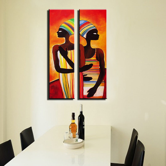 Abstract modern Vertical canvas wall art large wall sexy naked women  african art painting for wall decor living room pictures 70e5b9e245