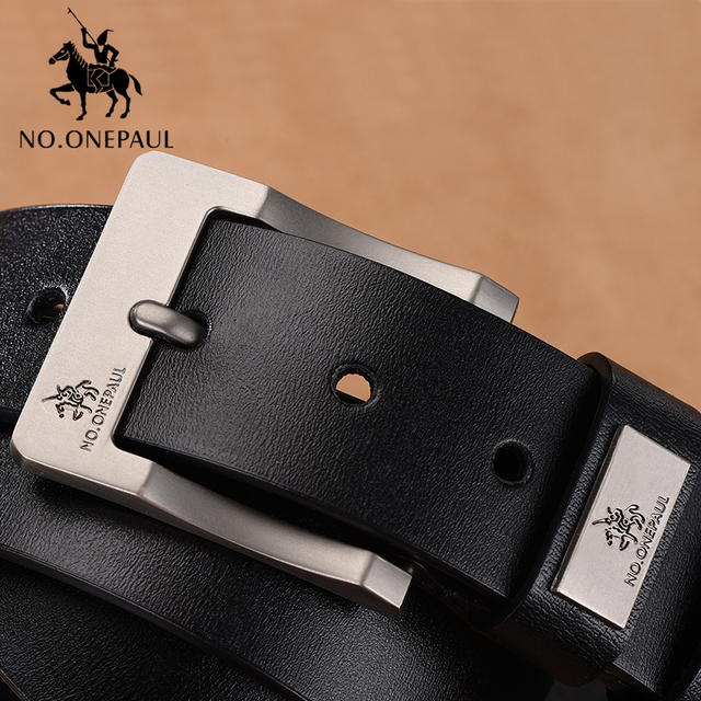 NO. ONEPAUL Cow Genuine Leather Luxury Strap Male Belts 2