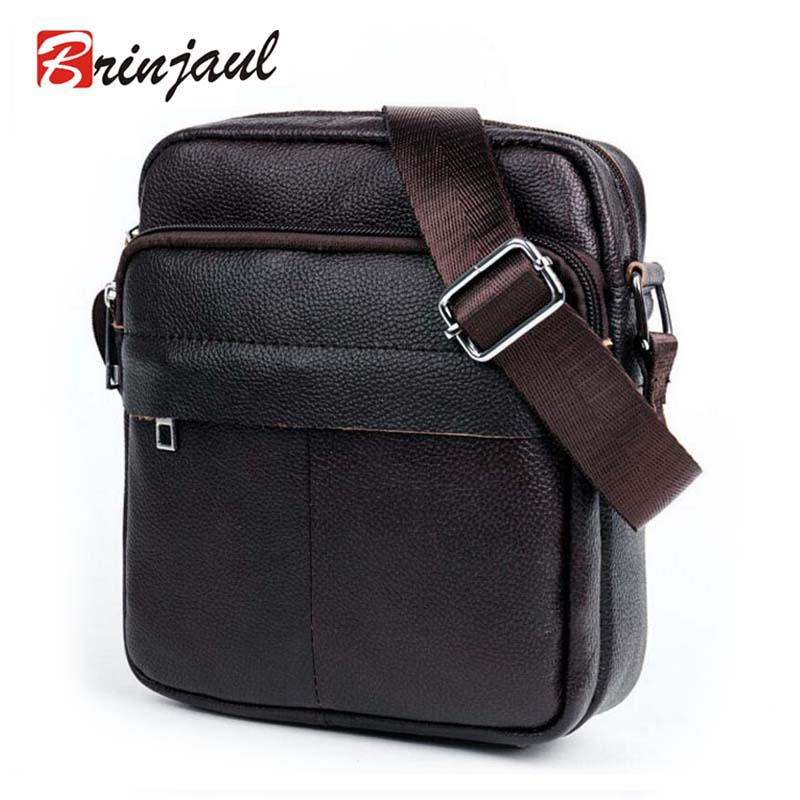 Genuine Leather Men Bags Male Small Messenger Bag Man Fashion Crossbody Shoulder Men's Travel New CX385
