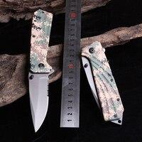 Pocket Folding Blade Knife, ngụy trang Camping Survival knife, xách tay Hunting Tactical knife đối Outdoor Sport Trái Cây Gia Đình