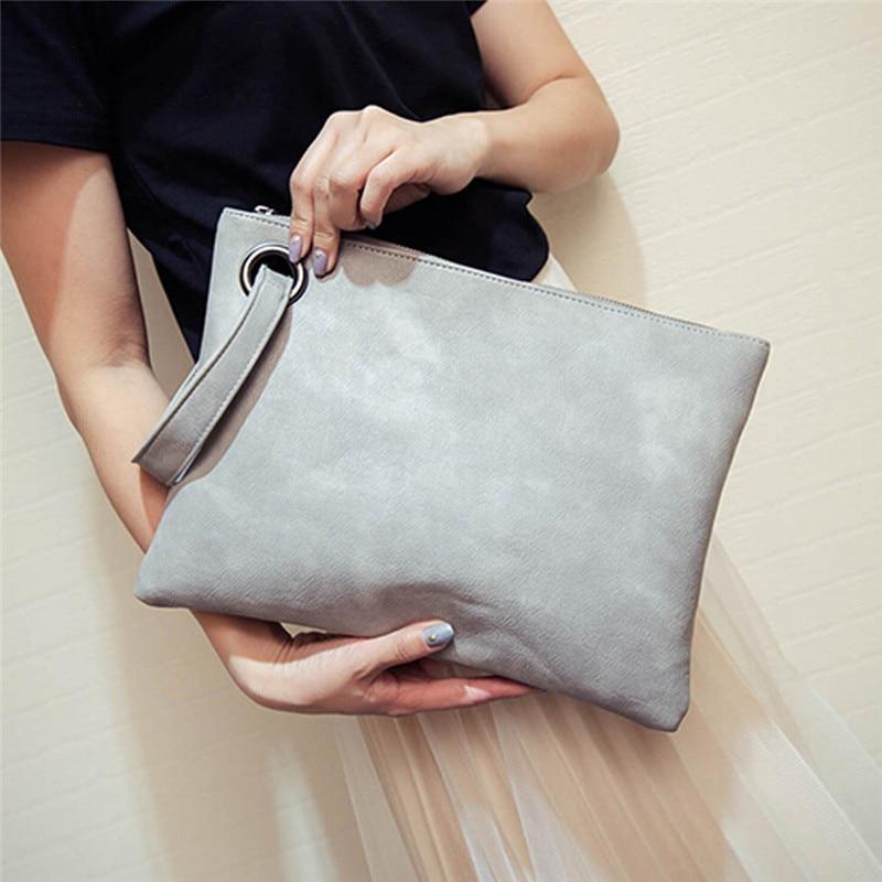 Fashion Solid women's Clutch Bag Women Envelope Bag Clutch Evening Bag Female Clutches Handbag Immediately Shipping