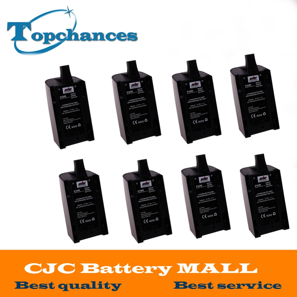 Free Shipping 8PCS High Capacity 2500mAh 11.1V Powerful Li