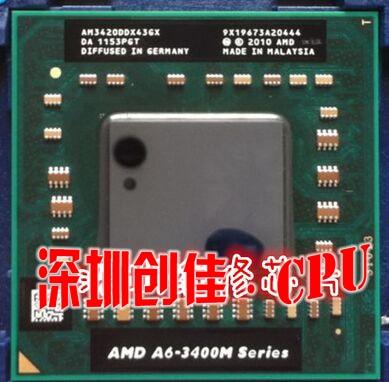 Original AMD CPU A6-3420M AM3420DDX43GX A6 3420 M PGA chipset procesador portátil A6 3400 M