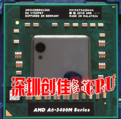 original AMD CPU A6-3420M AM3420DDX43GX A6 3420M PGA Chipset processor laptop a6 3400m