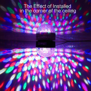 Bluetooth Crystal Magic Roterende Muziek Bal afstandsbediening 9 kleur RGB disco bal licht voice LED magische bal voor Party festival