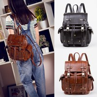 Osmond Pu Leather Women Backpack School Back pack For Teenage Girls Famous College Backpack Women High Quality Black Mochilas