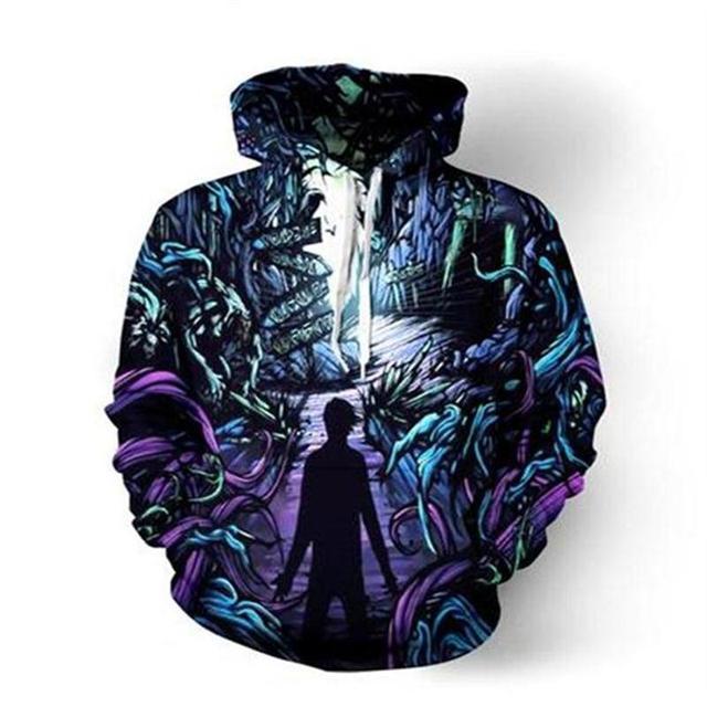 Lizhiyang Толстовка Для мужчин или wo Для мужчин Прохладный Творческий Объёмный рисунок (3D-принт) дорога к таинственный модные осень-зима уличная Костюмы