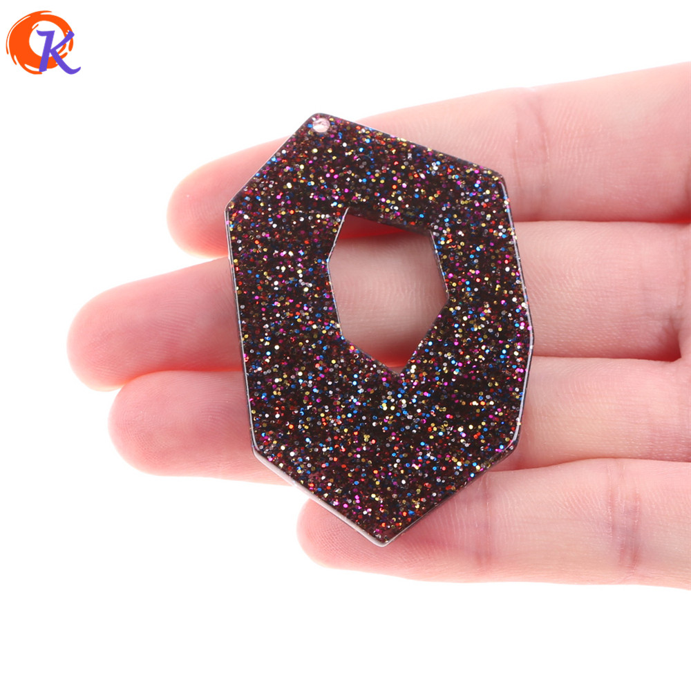 Cordial Design 35x54MM 20Pcs Earring Findings/Hand Made/Acetic Acid Geometric Bead/Earrings Jewelry Making/Jewelry Accessories
