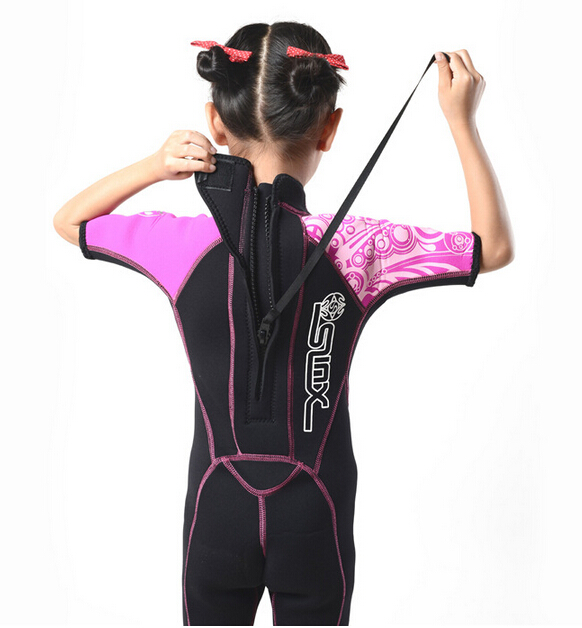SLINX 1302 2mm Néoprène Enfants Plongée sous-marine Costume De Natation Maillots De Bain Kite Surf Sports Nautiques Plongée En Apnée Nautique Kid'S Combinaison - 4