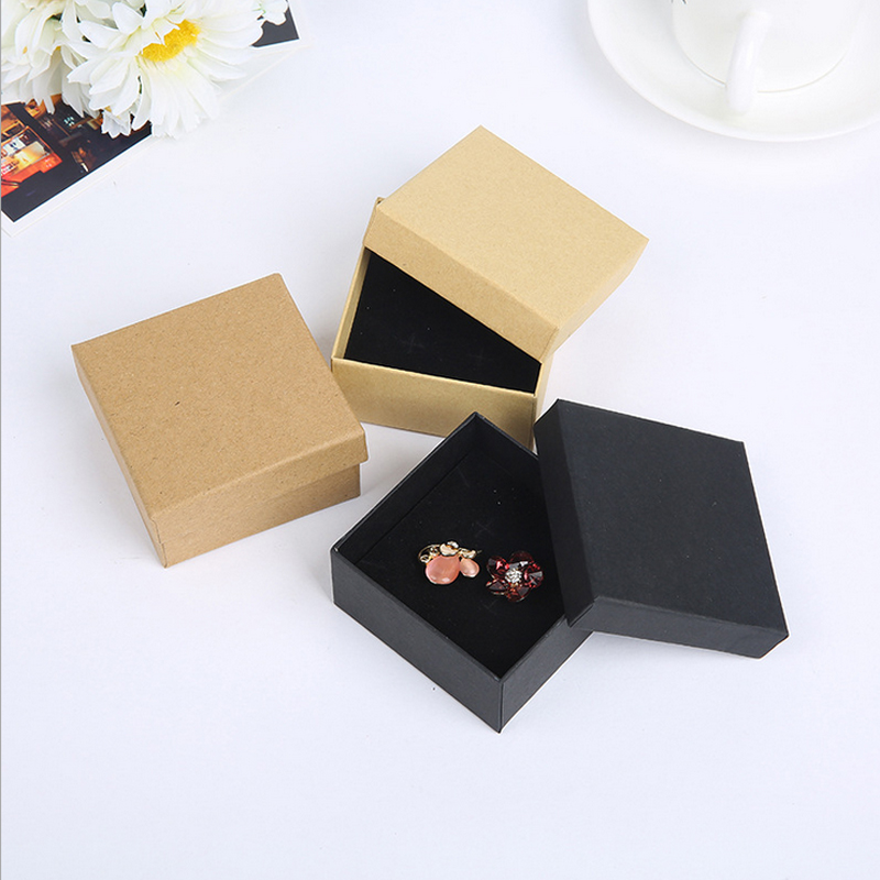 NEW ARRIVAL 10pcs A Lot Sell  Jewelry Package ,5x5cm  Fashion Black Color For Earring/ring /bracelet Jewelry Good Box A90