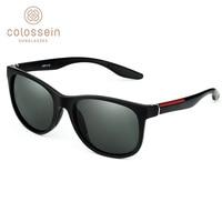 COLOSSEIN солнцезащитные очки для женщин для мужчин поляризационные Классический Свет Винтаж квадратный Роскошные Защита от солнца