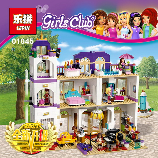 Girls Friends Heartlake Grand Hotel Building Block Figures Model DIY Bricks Compatible With 41101 Lepin 01045 for BELA 10547 kid lepin 01045 1676pcs girls series heartlake grand hotel set children eucational building blocks bricks toys model gift 41101