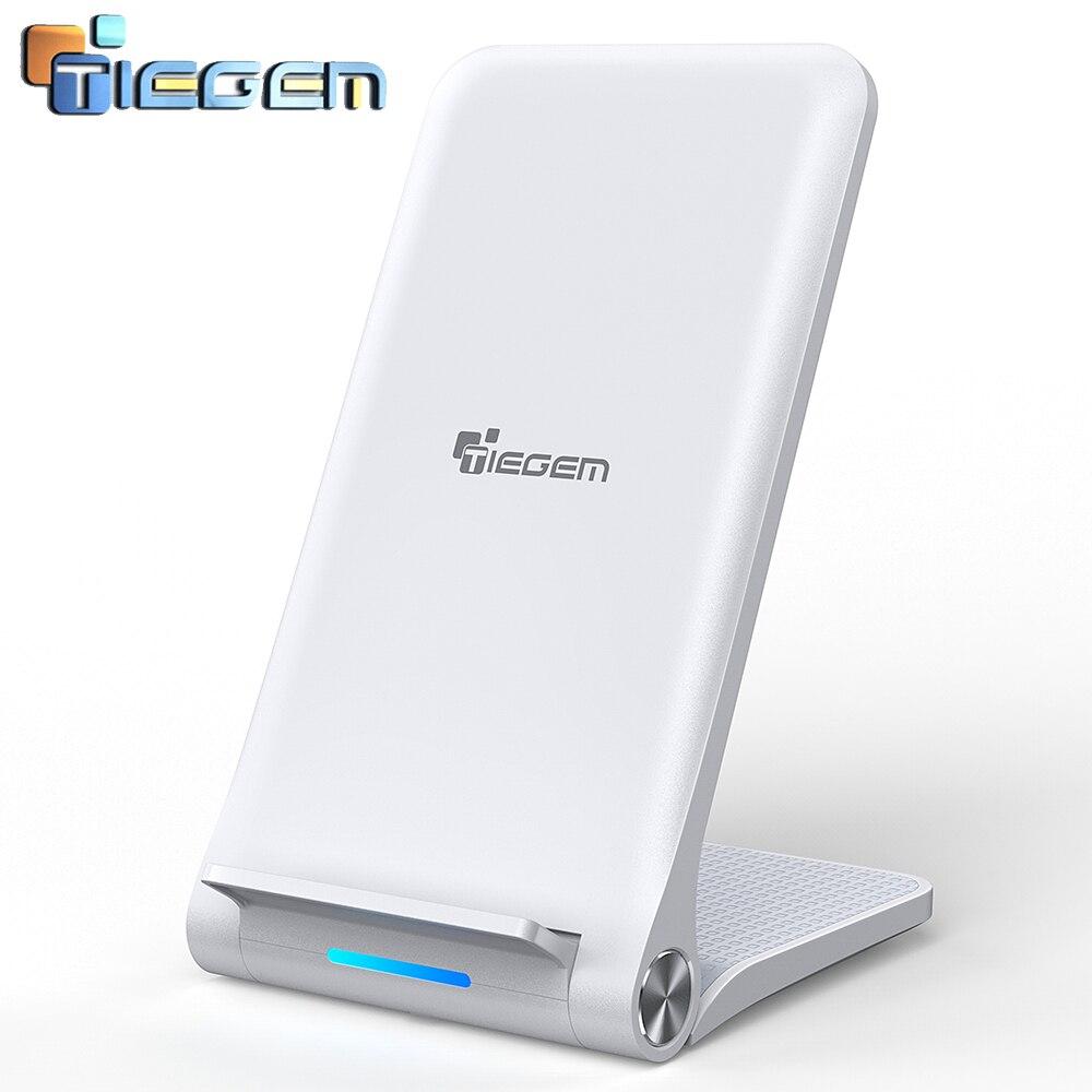 TIEGEM Sans Fil Chargeur pour iPhone X 8 Plus 10 w Sans Fil De Charge pour Samsung Galaxy S8 S9 S7 Bord Qi USB Sans Fil Chargeur Pad