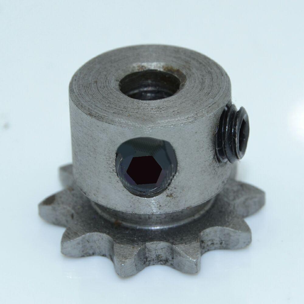 04C 10T 10 Teeth 6mm 7mm 8mm Bore 6.35mm Pitch Motor Steel Metal Chain Sprocket