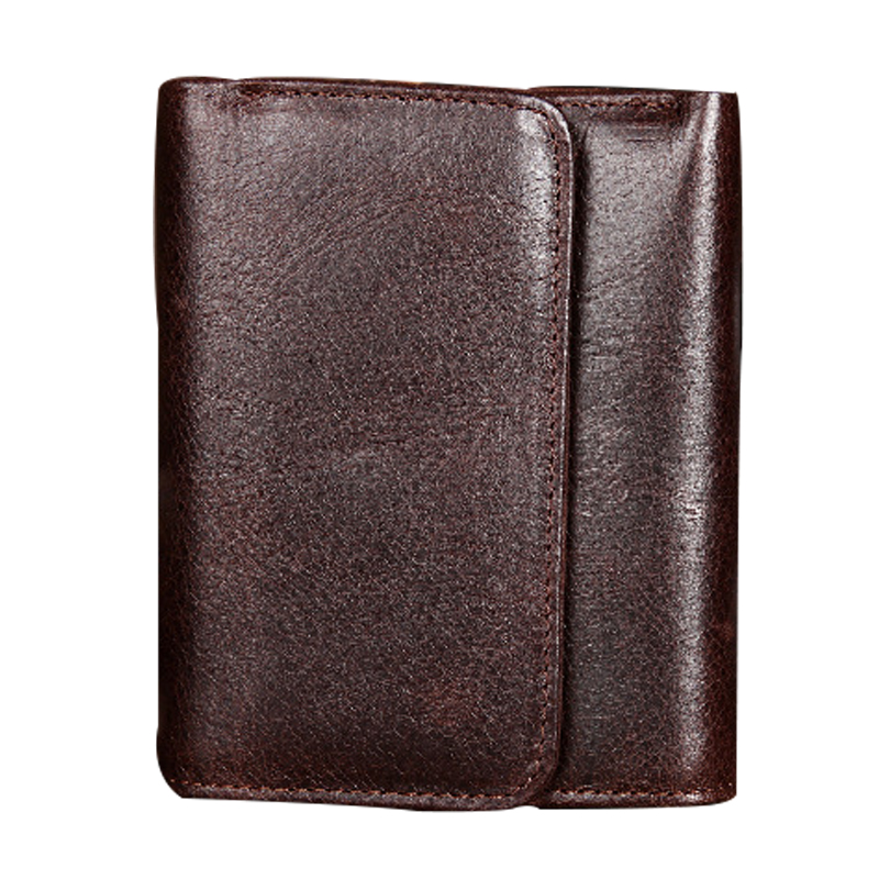 Men Wallet Cowhide Genuine Leather Purse Money Clutch Vintage Short 2017 Casual Card Holder Coin Designer Photo Male Wallets