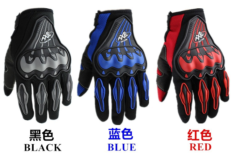 <font><b>AXE</b></font> <font><b>Motorcycle</b></font> Bicycle Full Finger <font><b>Protective</b></font> Gear <font><b>Racing</b></font> <font><b>Gloves</b></font> cross motocycle free shipping