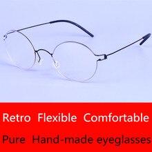 Творческий большой оправе инновационные безвинтовое Очки бренд сверхлегкий близорукость очки Мужчины очки Бизнес Oliver очки