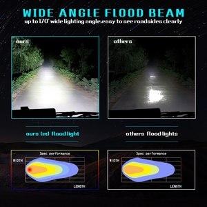 Image 5 - 7 インチ 72 ワット 3 行ledライトバーledデイタイムランニングライトの車のスタイリング車のワークライト洪水ビームトラクタートラックオフロード