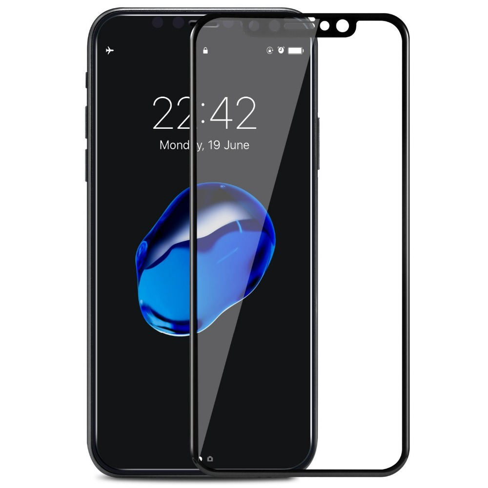 Wangcangli 4D Glass for iPhone x 8 Plus Full Cover 4D