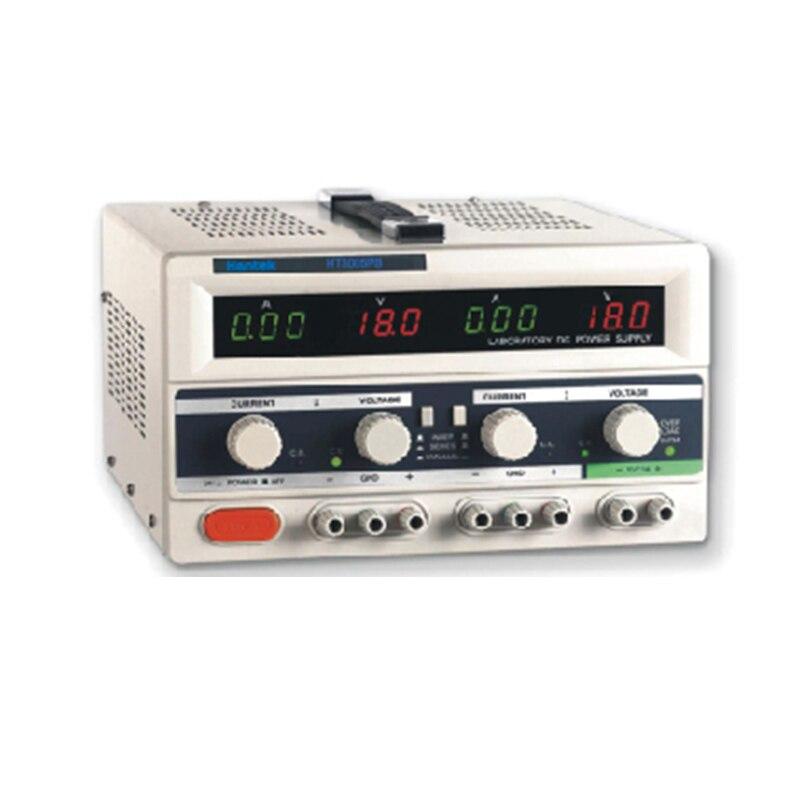 Hantek HT3005PB Digital Adjustable DC Power Supply 3 channels 0-30V 0-5A Current output 2 LED Display Power Supply Triple Output