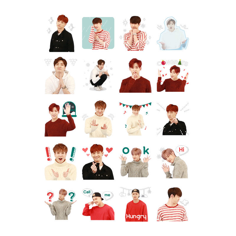 In Kpop Got7 Portable Summer Hand Fans Jb Jinyoung Mark Jackson Youngjae Costumes Cartoon Toy Collection Hf140 Fashionable Style;