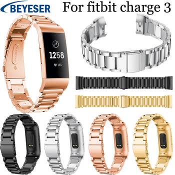 18mm Stainless Steel Strap for Fitbit Charge 3 watchband bracelet Watchband for Fitbit Charge3 metal wrist belt Replacement band фото