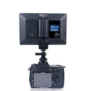 Image 4 - Viltrox L116T lcd ekran iki renkli ve kısılabilir ince DSLR Video led ışık isteğe bağlı pil + AC adaptörü kamera DV kamera için kamera