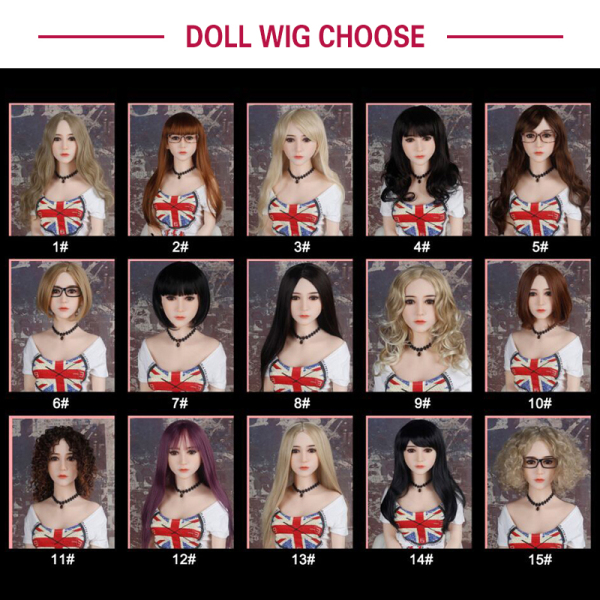 face and wig options for sex doll