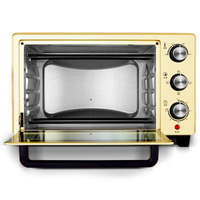 Home Electric Oven 23L Multi function Pizza Cake Bread Baking Machine 3 Layer Single Toaster Stainless Steel Convection Ovens