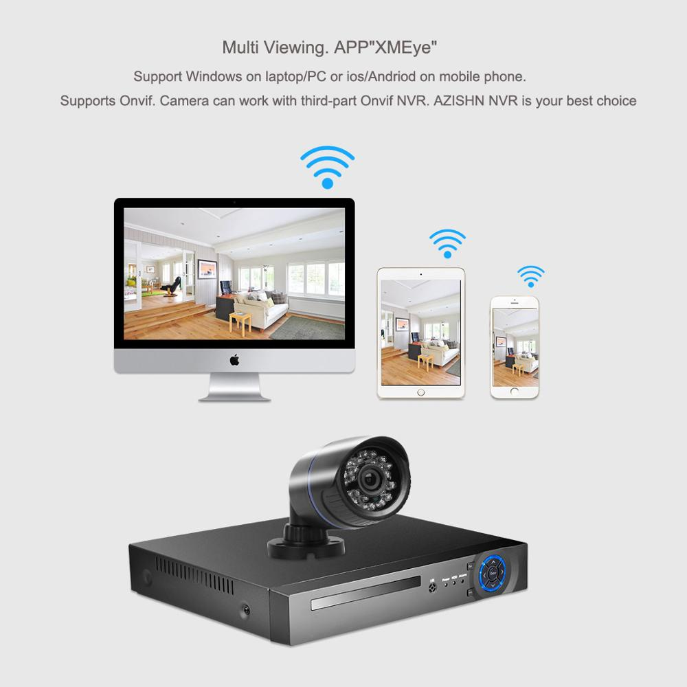 "Image 5 - AZISHN H.265 5MP 1/2.8"" SONY IMX335 Audio IP Camera Waterproof Video Network 24IR Day/Night ONVIF XMEye P2P CCTV Cameras 2MP/4MPSurveillance Cameras   -"