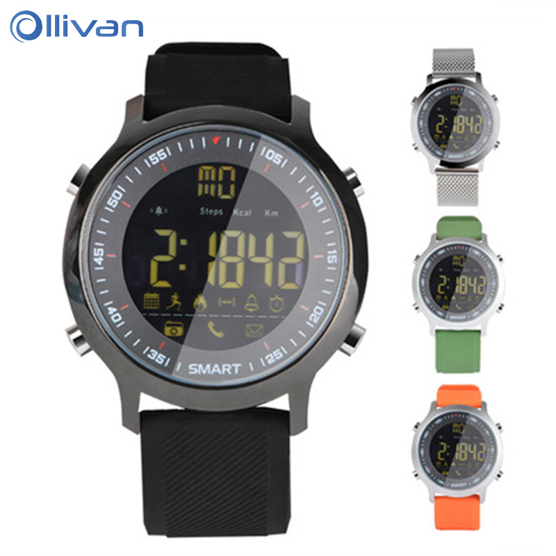 OLLIVAN Sport Smart Watch Pedometer Waterproof Call Reminder Digital Men Smart Watch Wearable Bracelet For ios Android Phone