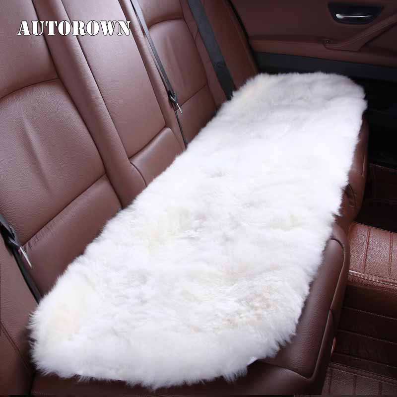 Aliexpress Buy AUTOROWN Universal Size For All Types Of Car Seats Covers Natural Australian Sheepskin Autumn Winter Set Protector From Reliable