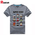 Superman/Captain America Popular Super hero cartoon funny t shirts Men casual print emoji tee shirt camiseta,15 color, M-XXXL