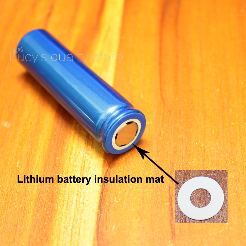 Купить с кэшбэком 100pcs/lot 5th battery positive meson 1 14500 lithium battery positive hollow tip insulation washer fast paper meson