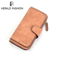 Herald Fashion Wallet Women Scrub Leather Lady Purses High Quality Ladies Clutch Wallet Long Female Wallet Carteira Feminina
