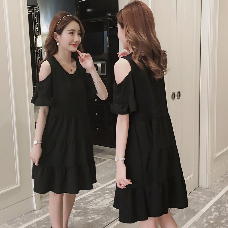 a8975566d2dec Aliexpress.com : Buy Maternity dresses solid color summer fashion 2018  Korean new tide mother loose blouse pregnant women dress pregnancy clothes  from ...