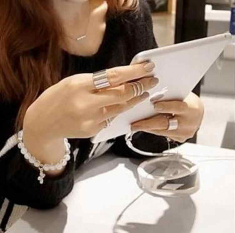 3pcs/set gold color hollow out Korean personality ring fashion briefr joint rings for women wj230