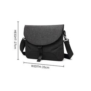 Image 2 - Men Canvas Detachable Messenger Bags High Quality Waterproof Shoulder Bag + Briefcase For Business Travel Crossbody Bag