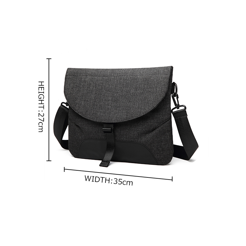 Image 2 - Men Canvas Detachable Messenger Bags High Quality Waterproof Shoulder Bag + Briefcase For Women Business Travel Crossbody Bag-in Crossbody Bags from Luggage & Bags