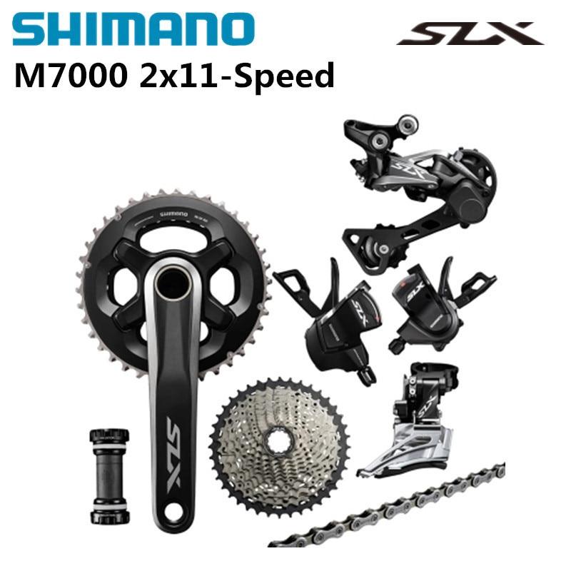 Shimano SLX M7000 2x11 22 Speed Groupset 7 Pcs.SLX M7000 Double Groupset 11-40 11-42T shimano slx m7000 1x11 11s speed 11 42t 11 46t groupset contains shift lever