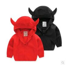 Cartton Pattern Coats boys Trench 2016 autumn spring new kids children baby coat jacket Long Sleeved Black Red