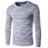 2019 новый человек трикотаж осень-зима модные брендовые мужские свитера пуловеры вязаная, шерстяная, тёплая дизайнерская Slim Fit Повседневное в...