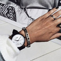Новый Горячий Мода Мраморный Зерна Циферблат Женские Часы Случайные Люди Наручные Часы Унисекс Кожа Кварцевые Часы Подарок Часы Montre Femme Horloge