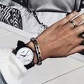 Nueva Caliente de La Manera del Grano de Mármol Dial Mujeres Reloj Casual Hombres Reloj de pulsera Unisex Reloj de Cuarzo de Cuero de Regalo Reloj Montre Femme Horloge