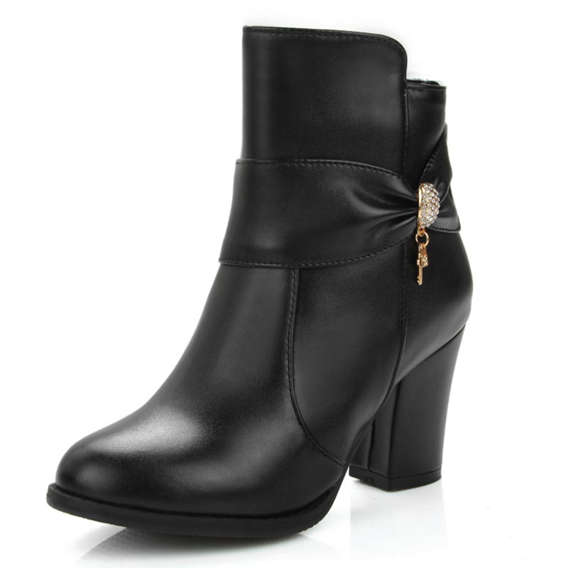 ФОТО Big Size Lady's Dress Ankle Boots For Women Sexy European Style PU Leather Shoes Fashion Print Side Zipper Botas Femininas XD592