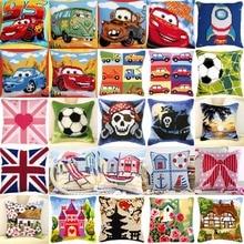 Car style 01 JCS  Crafts Cushion Printed Cross Stitch Kits Tapestry pillow KIT Home Decorative Pillows Needlework cushion